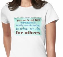 The Secret of Life Womens Fitted T-Shirt