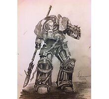 Grey Knight pencil sketch Photographic Print
