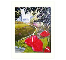 Peace in Roma Street Parklands Brisbane Art Print