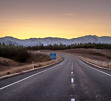 Open Road Sunset by Russell Charters