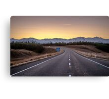 Open Road Sunset Canvas Print