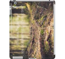 When was the last time you did something for the first time? iPad Case/Skin