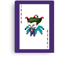 Chibi Joker Canvas Print
