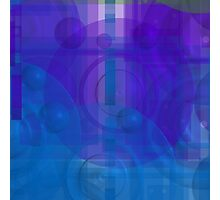 Blue colorful 1 Photographic Print