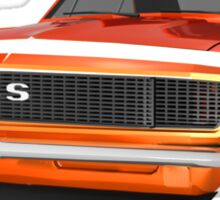 Orange 1967 Camaro SS Sticker