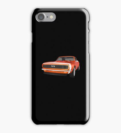 Orange 1967 Camaro SS iPhone Case/Skin