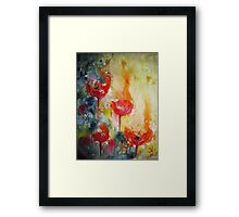 """Poppies in the sun"" Framed Print"