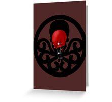 Chibi Red Skull Greeting Card