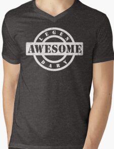LEGENDARY AWESOME (white type) Mens V-Neck T-Shirt