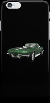 Green 1967 Corvette Stingray by bradyarnold