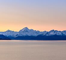 Mountain Sunset by Russell Charters