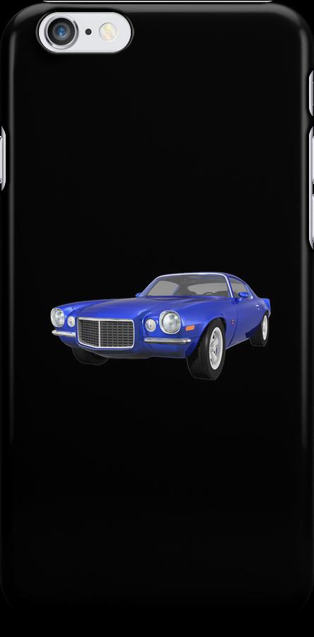 Blue 1972 Camaro  by bradyarnold