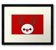 Reindeer Baymax Framed Print