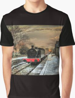 The train is in the station. Graphic T-Shirt