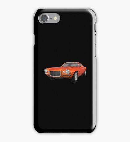 Orange 1972 Camaro  iPhone Case/Skin