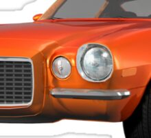 Orange 1972 Camaro  Sticker