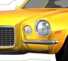 Yellow 1972 Camaro  Sticker