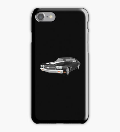 Black 1970 Chevelle SS iPhone Case/Skin