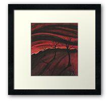 Hell Valley Framed Print