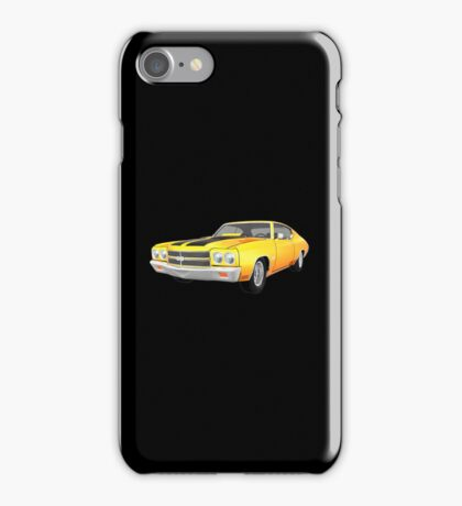 Yellow 1970 Chevelle SS iPhone Case/Skin