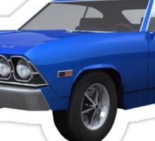 Blue 1969 Chevelle SS Sticker