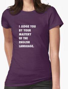 English Language Womens Fitted T-Shirt