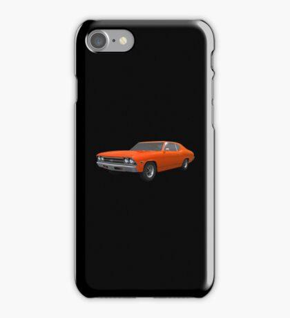 Orange 1969 Chevelle SS iPhone Case/Skin