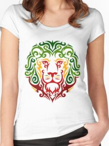 RastaLion Women's Fitted Scoop T-Shirt
