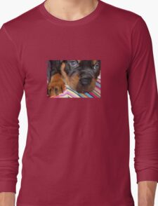 Young Female Rottweiler Making Eye Contact Long Sleeve T-Shirt