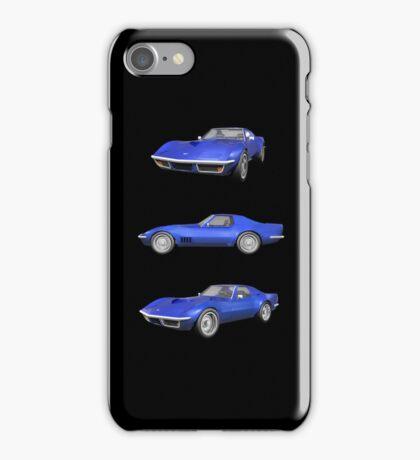 Blue 1970 Corvette iPhone Case/Skin