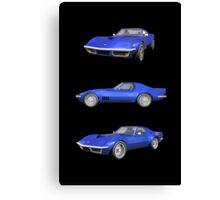 Blue 1970 Corvette Canvas Print