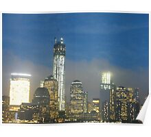 The New World Trade Center at Night, Lower Manhattan, New York City Poster