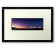 Lake Tekapo Sunset Stars Framed Print