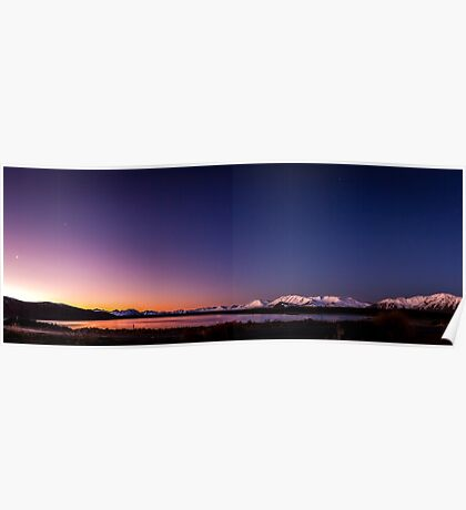 Lake Tekapo Sunset Stars Poster