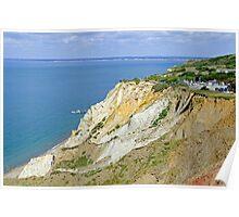 Alum Bay, Coloured Sand Cliffs  Poster