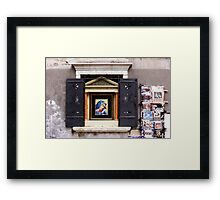A window in Venice I Framed Print