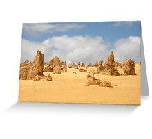 The Pinnacles at Nambung National Park Western Australia Greeting Card