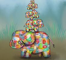 elephant jumble by © Karin (Cassidy) Taylor