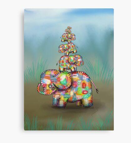 elephant jumble Canvas Print