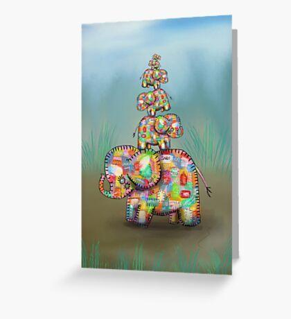 elephant jumble Greeting Card