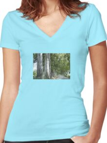 Old Mugla - Marmaris Road Eucalyptus Akcapinar Women's Fitted V-Neck T-Shirt