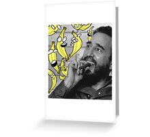 Fidel Castro With Some Bananas Greeting Card