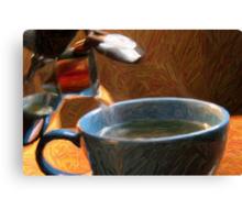 Hot Tea In the Fall season Canvas Print