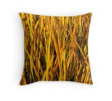 Yellow Grass Wall Art Throw Pillow