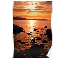 Sunset Over Arran's North Shore Poster