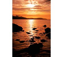 Sunset Over Arran's North Shore Photographic Print