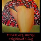 A Scottish Highland Fling Christmas Greeting Card by taiche