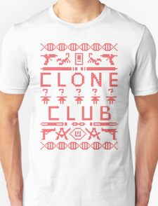Clone Club (Red Text) Ugly Christmas Sweater - Orphan Black T-Shirt