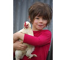An Elf and a Chicken Photographic Print