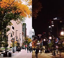 UW Madison Day and Night by Meredith Johnson